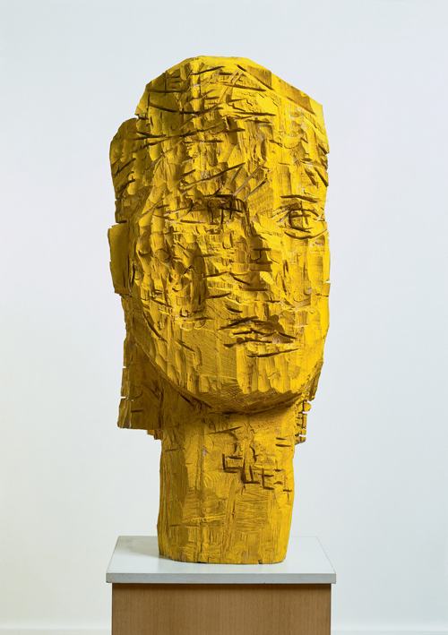 Georg Baselitz. <em>Woman of Dresden &ndash; Karla, </em>1990<em>.</em> Ash and tempera, 157 x 67.5 x 44 cm. Froehlich Collection, Stuttgart. Photo &copy; Jochen Littkemann &copy; Georg Baselitz